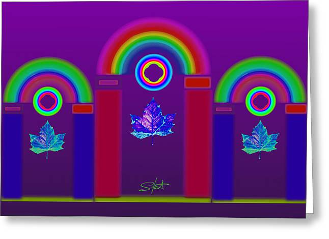Rainbow Greeting Cards - Tuscan Violet Greeting Card by Charles Stuart