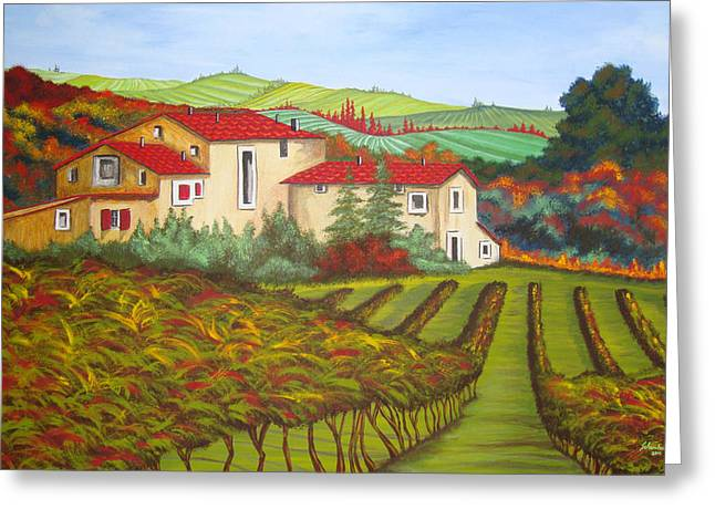 Tuscany Greeting Card by Amanda Schambon