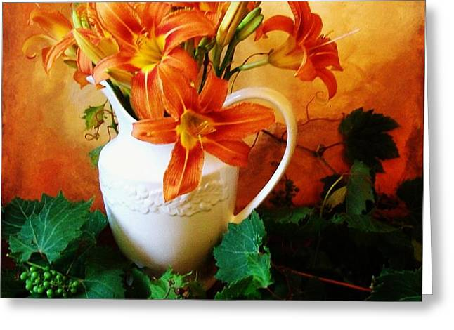 Tuscany Bouquet Greeting Card by Marsha Heiken
