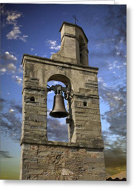 Medeival Greeting Cards - Tuscany Church Bell Greeting Card by Al Hurley