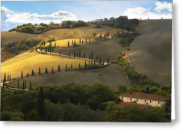 Chianti Hills Greeting Cards - Tuscany Morning Greeting Card by Nicole Daniah Sidonie