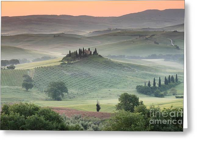 Best Sellers -  - Tuscan Sunset Greeting Cards - Tuscany Greeting Card by Tuscany