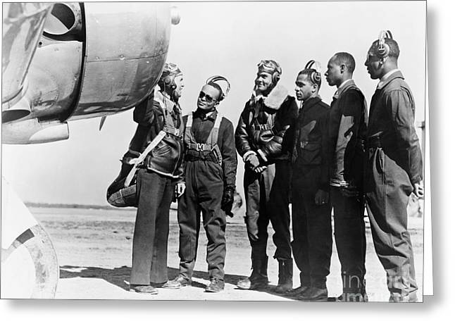 World War 2 Airmen Greeting Cards - Tuskegee Airmen, 1942 Greeting Card by Granger