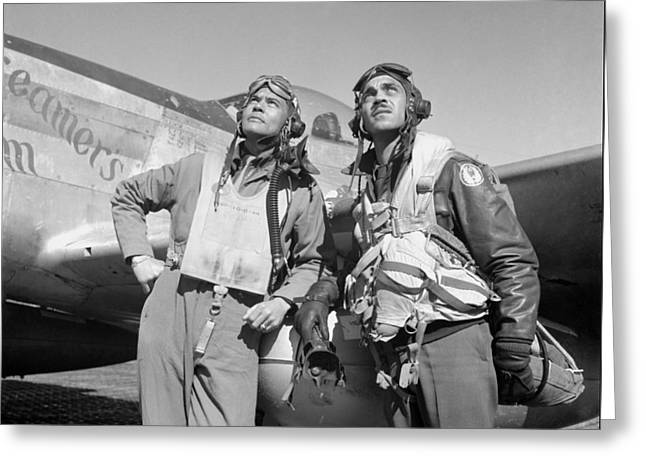 P-51 Greeting Cards - Tuskegee Airmen Greeting Card by War Is Hell Store