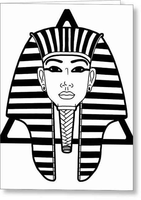 Pharaoh Mixed Media Greeting Cards - Tut Greeting Card by Alysa Sheats
