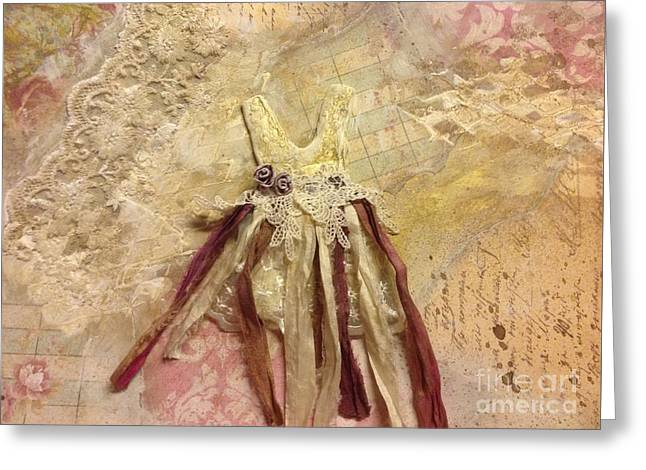 Tutu Mixed Media Greeting Cards - Tutu in Paris Greeting Card by Laurie Salinas