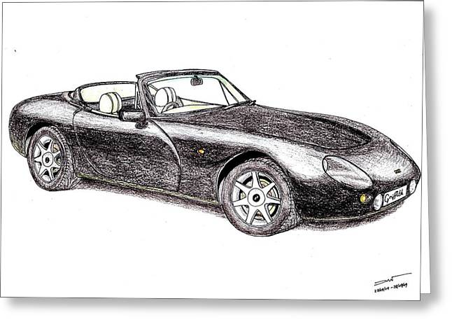 Veteran Drawings Greeting Cards - TVR Griffith Greeting Card by Dan Poll