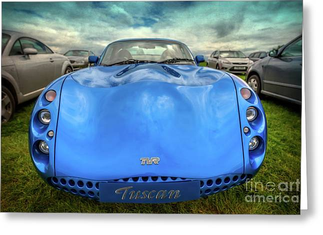 Tvr Tuscan Greeting Card by Adrian Evans