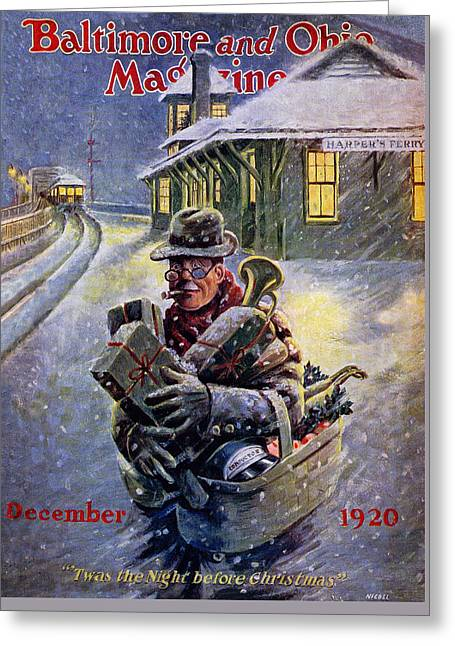 Harpers Ferry Paintings Greeting Cards - Twas the Night Before Christmas Greeting Card by Nicoll