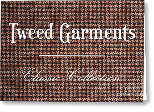 Label Greeting Cards - Tweed Garments - Classic Collection Greeting Card by Angelo DeVal