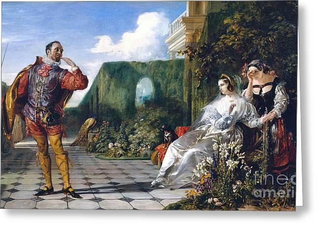 Twelfth Night Greeting Card by Daniel Maclise