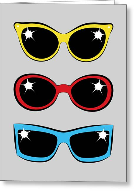 Twentieth Century Digital Greeting Cards - Twentieth Century Sunglasses Greeting Card by MM Anderson