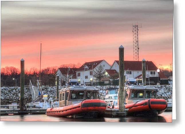 Coastguard Greeting Cards - Twenty-four Seven  Greeting Card by JC Findley