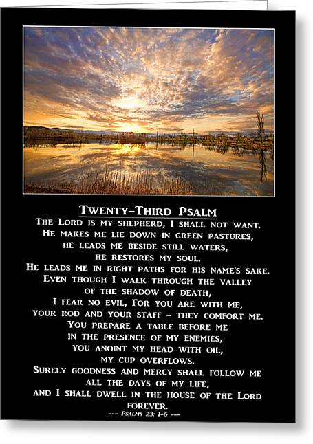 Twenty-third Psalm Prayer Greeting Card by James BO  Insogna