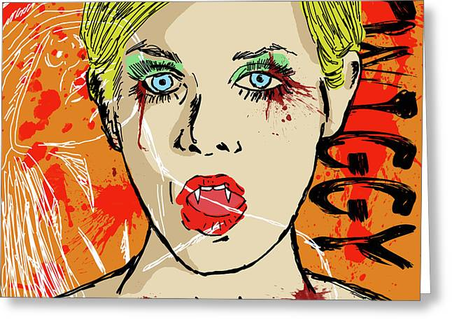 Twiggy Greeting Cards - Twiggy Got Jealous Greeting Card by Sean King