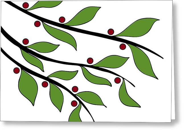Graphics Art Greeting Cards - Twigs Greeting Card by Frank Tschakert