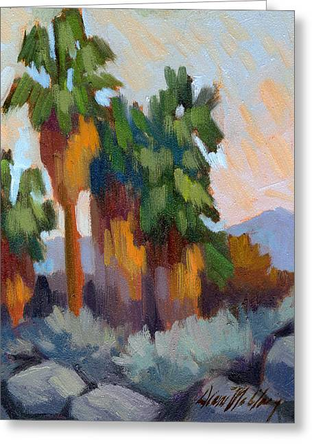 Twilight Greeting Cards - Twilight at Indian Canyons  Greeting Card by Diane McClary