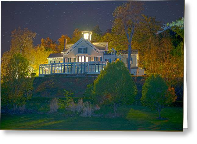 Wine Tour Greeting Cards - Twilight at TFarms Greeting Card by Joseph Scaglione