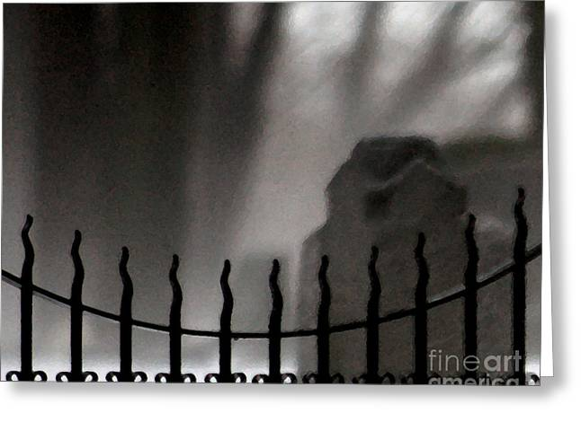 Antique Ironwork Greeting Cards - Twilight Beyond Grace Greeting Card by Linda Knorr Shafer