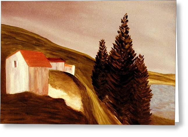 Mountain Road Greeting Cards - Twilight Greeting Card by Bill OConnor