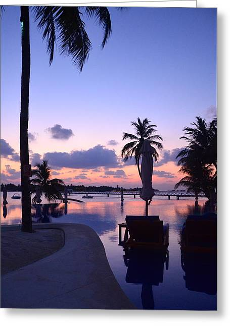 Lounge Photographs Greeting Cards - Twilight Greeting Card by Corinne Rhode