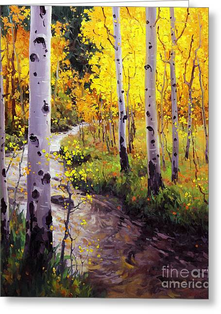 Twilight Glow Over Aspen Greeting Card by Gary Kim