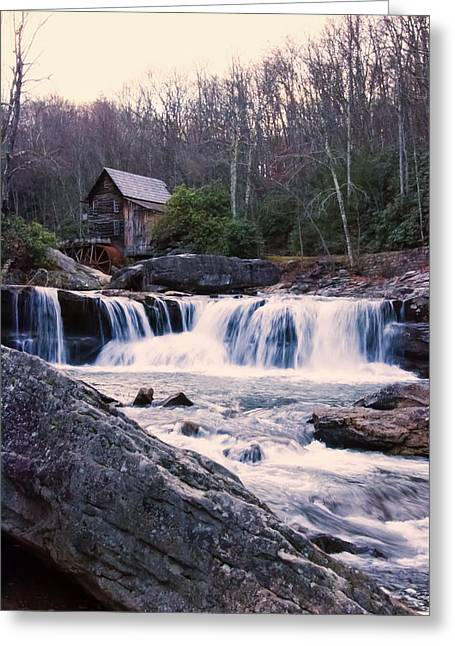 Grist Mill Digital Art Greeting Cards - Twilight Image Of Glade Creek Grist Mill Greeting Card by Chris Flees