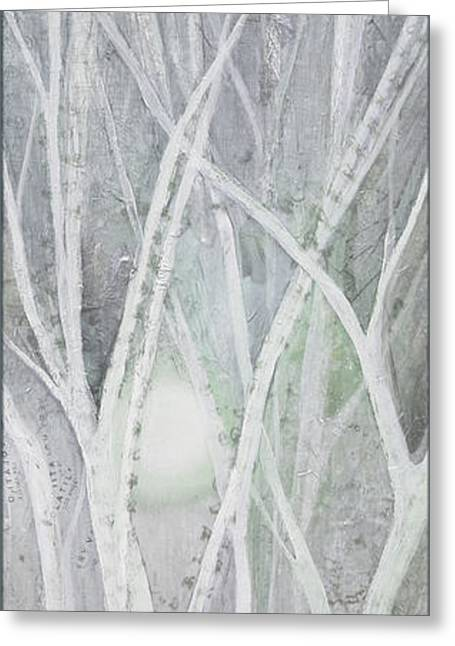 Twilight In Gray II Greeting Card by Shadia Zayed