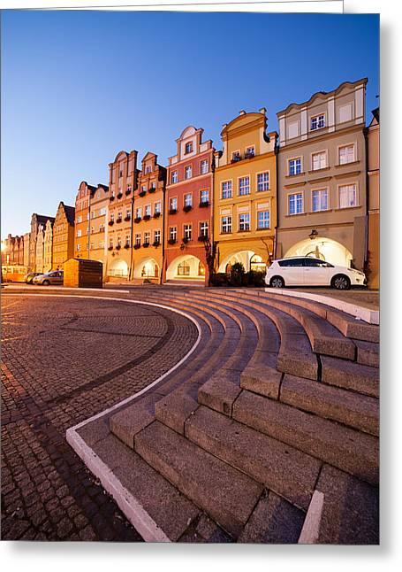 Twilight In The Old Town Of Jelenia Gora In Poland Greeting Card by Artur Bogacki