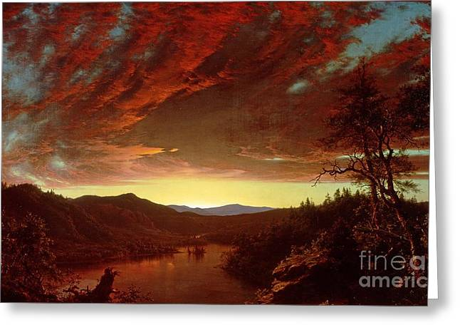 Twilight in the Wilderness Greeting Card by Frederic Edwin Church
