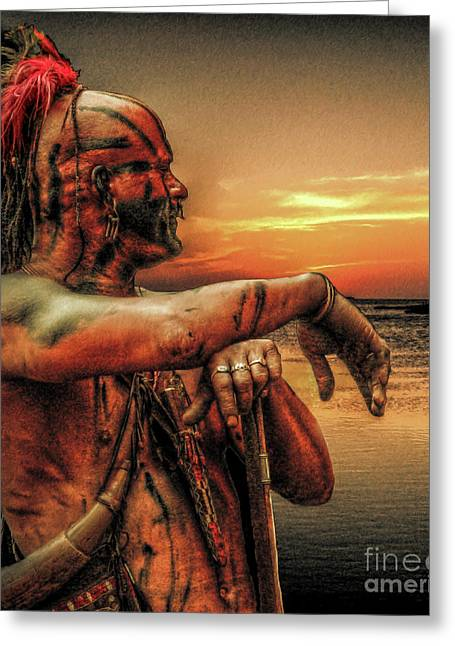 Six Nations Greeting Cards - Twilight of Empire Greeting Card by Randy Steele