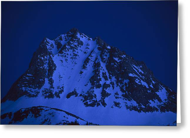 Bishops Peak Greeting Cards - Twilight On Hurd Peak Greeting Card by Soli Deo Gloria Wilderness And Wildlife Photography