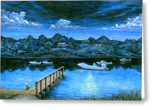 Nautical Greeting Cards - Twilight on Taylor Greeting Card by Tanja Ware
