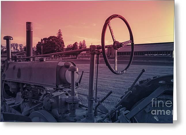 Twilight On The Farm Greeting Card by Edward Fielding