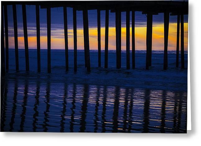 Twilight Pier Greeting Card by Garry Gay