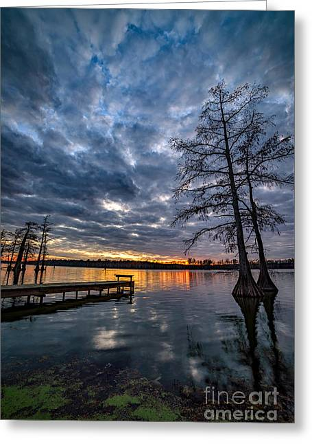 Twilight Reflections Greeting Card by Anthony Heflin