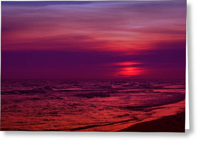 Panama City Beach Fl Greeting Cards - Twilight Greeting Card by Sandy Keeton