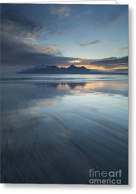 Inner Self Photographs Greeting Cards - Twilight Sunset Over The Isle Of Rhum Greeting Card by John Potter