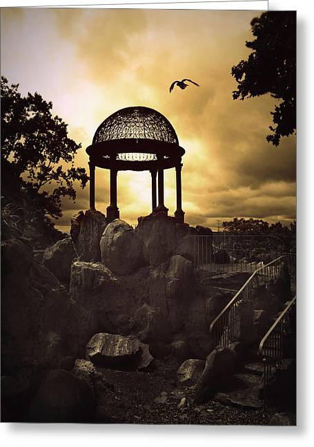 Staris Greeting Cards - Twilight Temple Greeting Card by Jessica Jenney