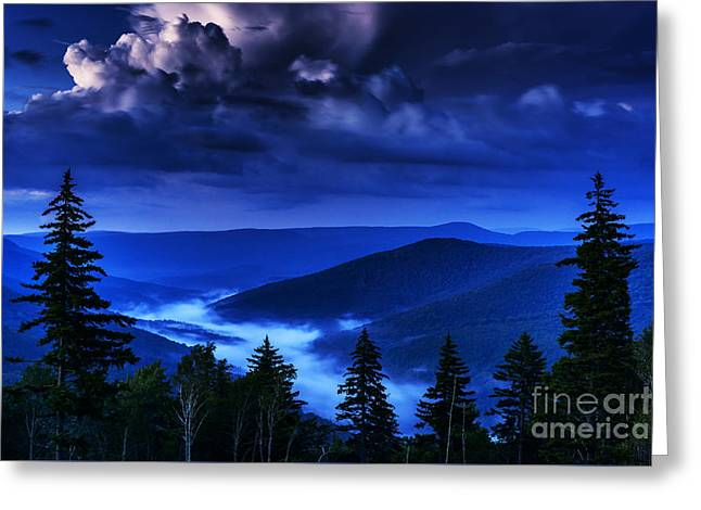 Williams River Greeting Cards - Twilight Thunderhead Greeting Card by Thomas R Fletcher