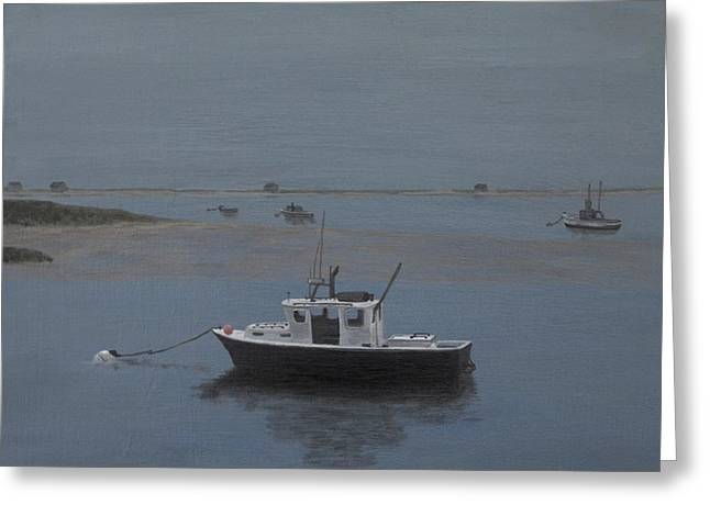Chatham Paintings Greeting Cards - Twilight Tranquility Greeting Card by Michelle Welles
