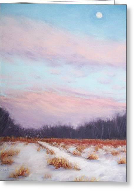 Winter Pastels Greeting Cards - Twilight Winter Whisper Greeting Card by Christine Camp