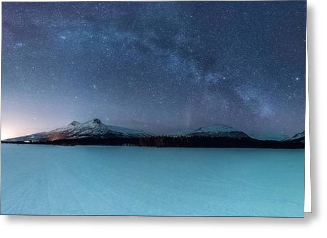 Twin Eruption Greeting Card by Tor-Ivar Naess