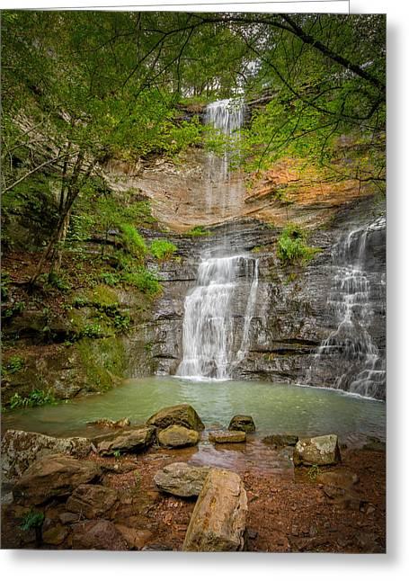 Arkansas Greeting Cards - Twin Falls Greeting Card by James Barber