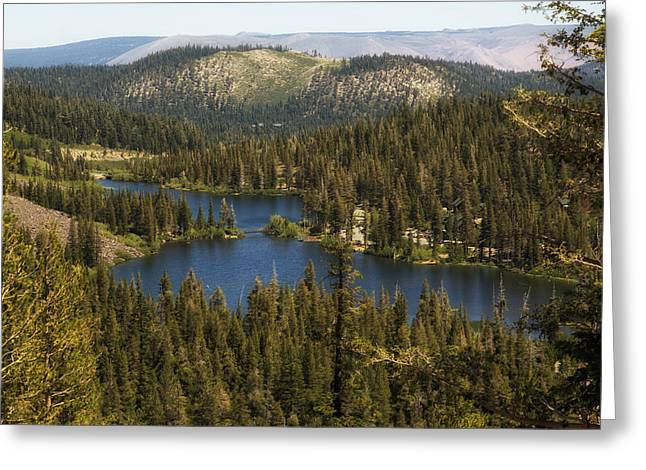 Mountain Valley Greeting Cards - Twin Lakes - Sierra Nevada Mountains Greeting Card by Mountain Dreams