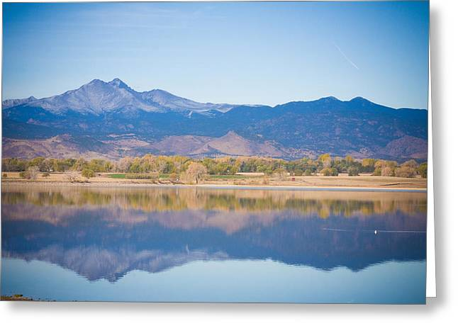 Colorado Mountain Prints Greeting Cards - Twin Peaks Reflection Greeting Card by James BO  Insogna