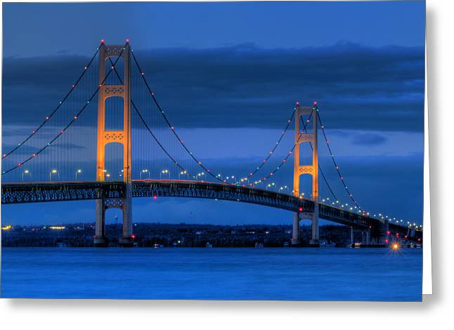 Mackinaw City Greeting Cards - Twin Towers of Northern Michigan Greeting Card by Twenty Two North Photography
