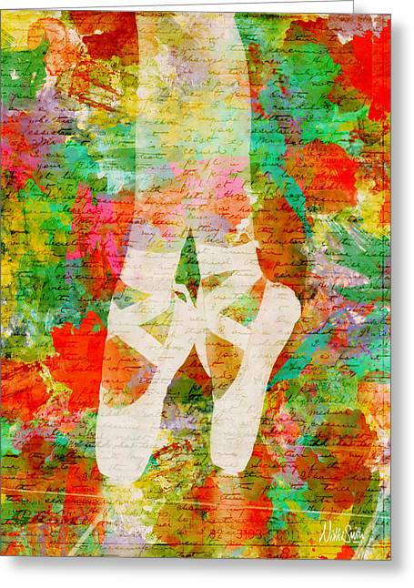 Girl Digital Art Greeting Cards - Twinkle Toes Greeting Card by Nikki Marie Smith