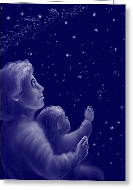 Twinkle Twinkle Little Star Greeting Card by Dawn Senior-Trask