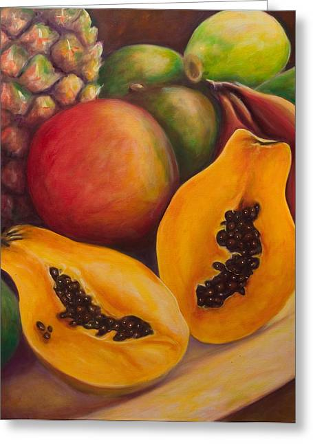 Mango Paintings Greeting Cards - Twins Greeting Card by Shannon Grissom